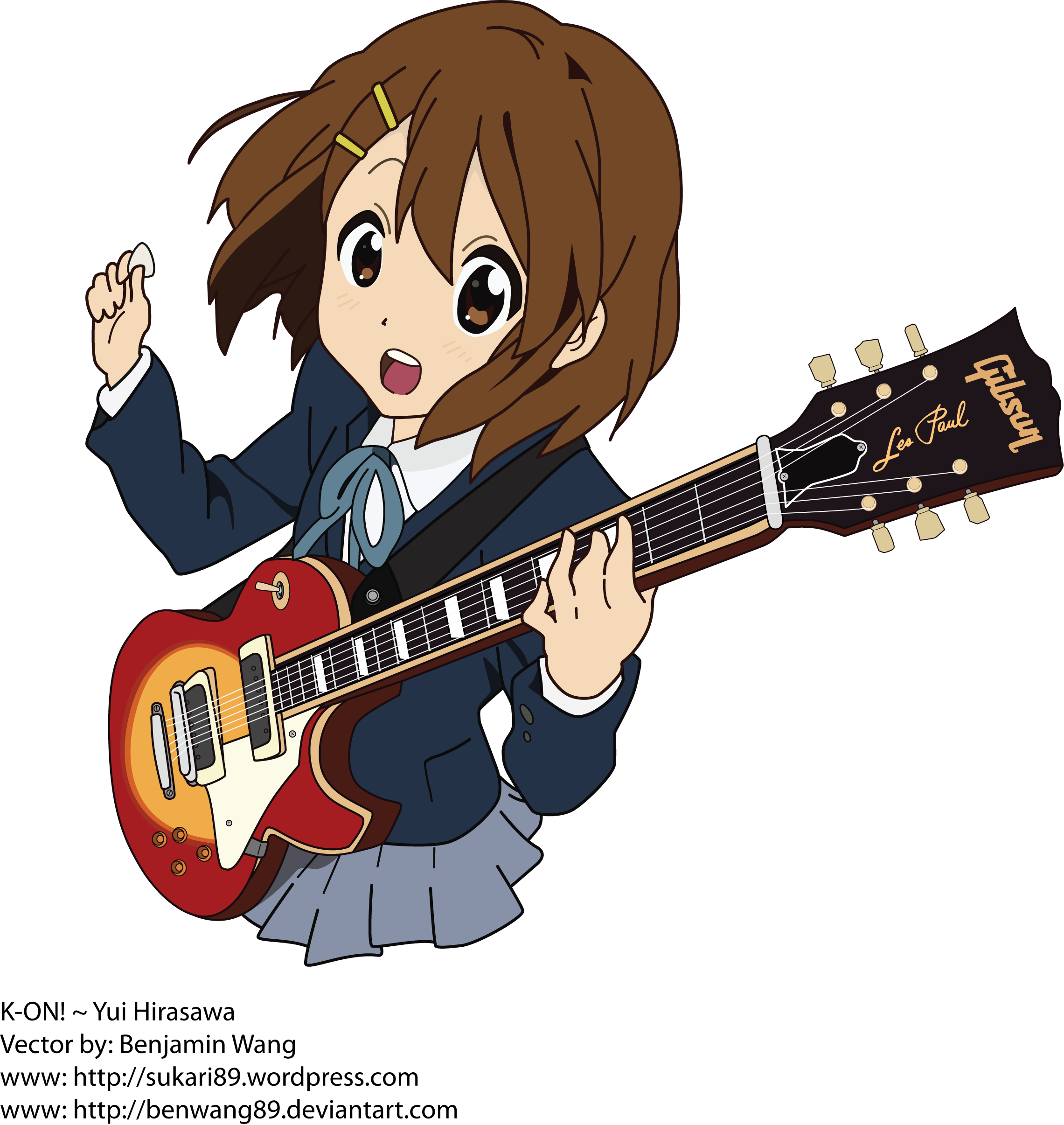 A Journal of my Works | Displaying my artworks.. K On Yui Guitar