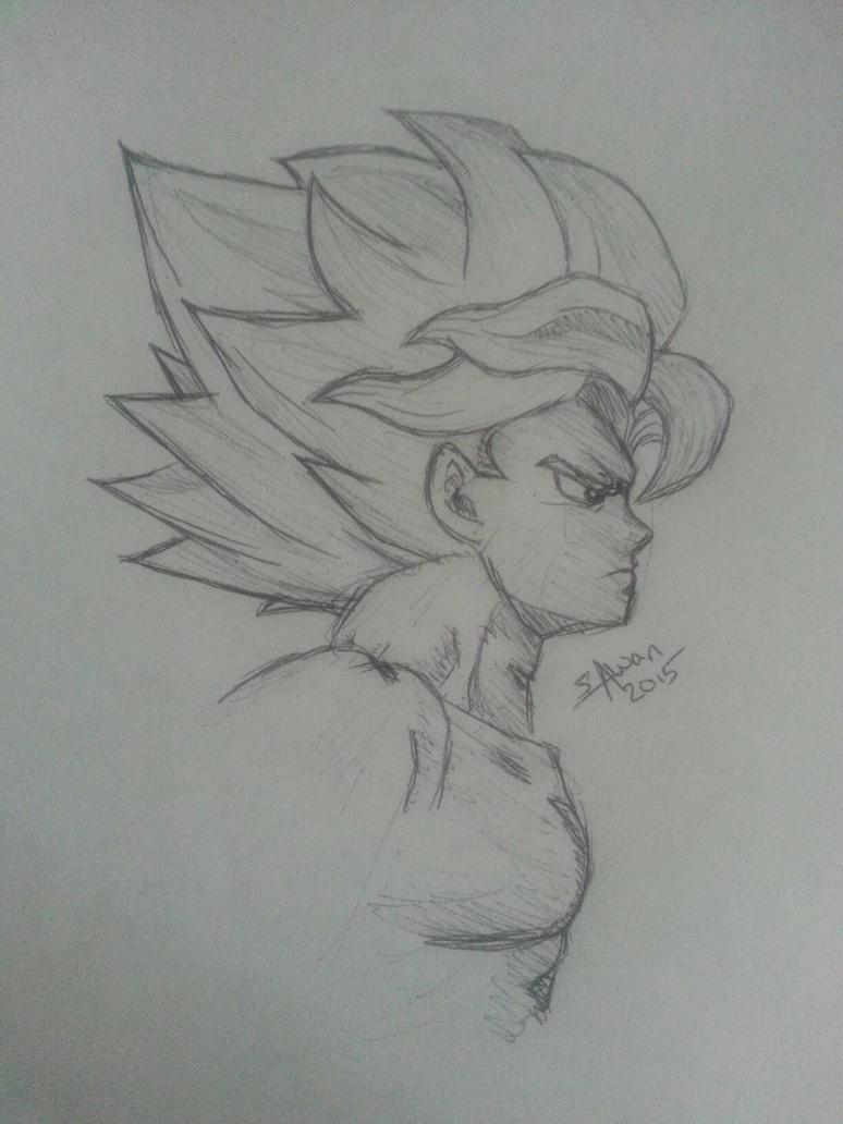 SSJ Goku by pinkVEGETA5