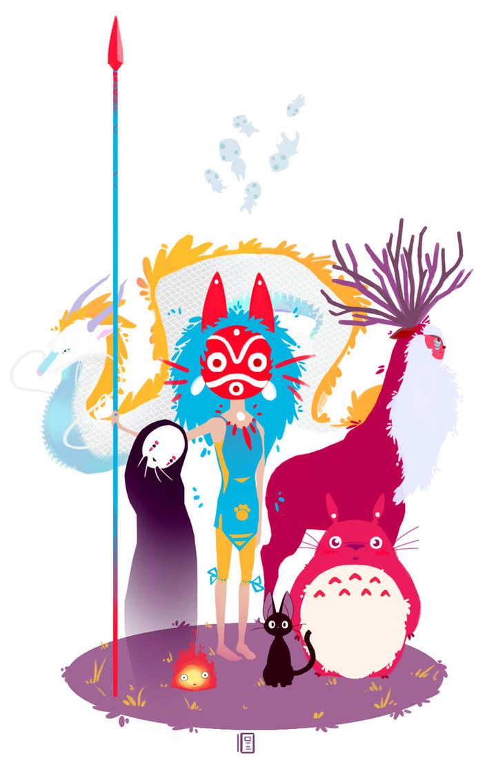 Ghibli Gang by Owlboi