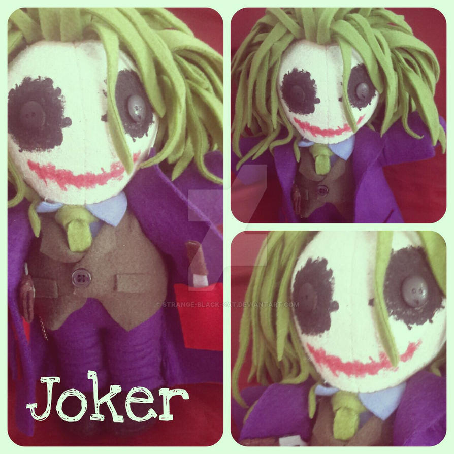 Joker Plushie by strange-black-cat