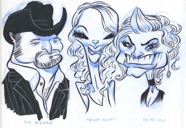 Country Music Stars by JeffVictor