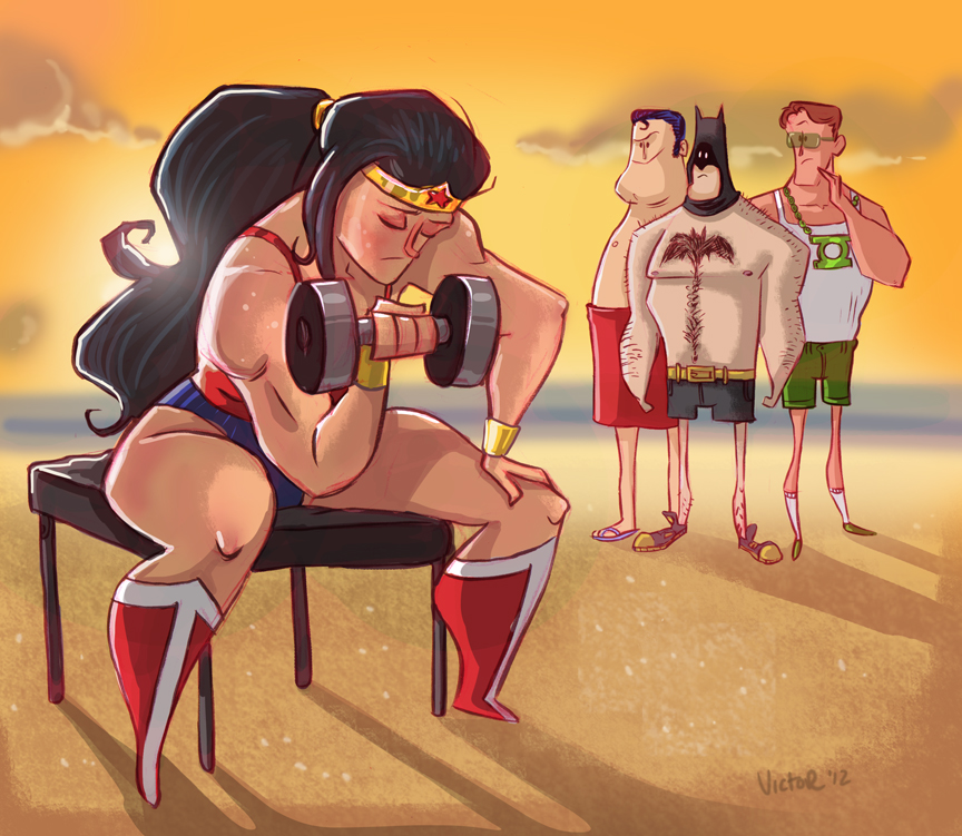 Wonder Woman Workout by JeffVictor