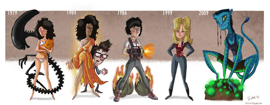Actor Evolution_Sigourney Weaver by JeffVictor