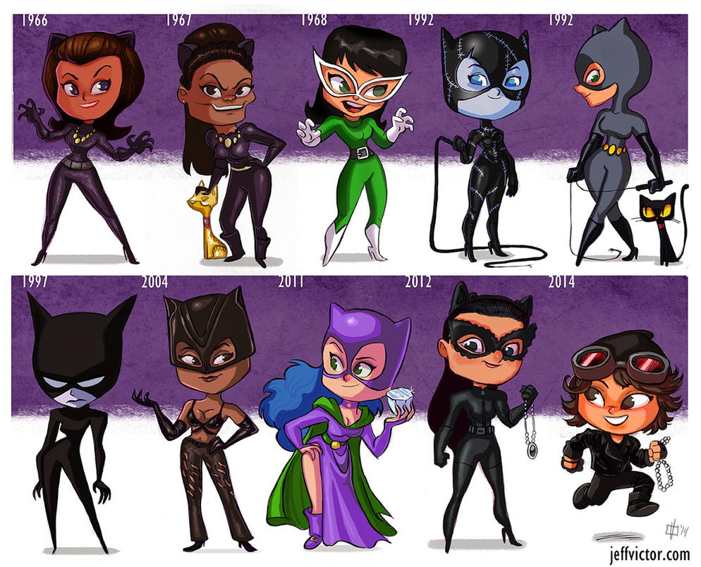 The Evolution of Catwoman (TV and Film) by JeffVictor