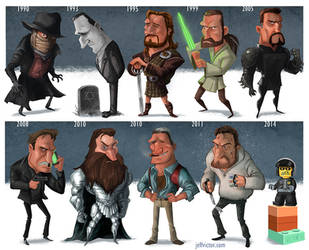 Evolution of Liam Neeson by JeffVictor