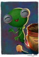 Bubblehead: kermit by JeffVictor