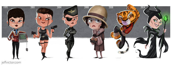 The Evolution of Angelina Jolie by JeffVictor
