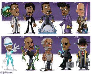 The Evolution of Samuel L Jackson by JeffVictor