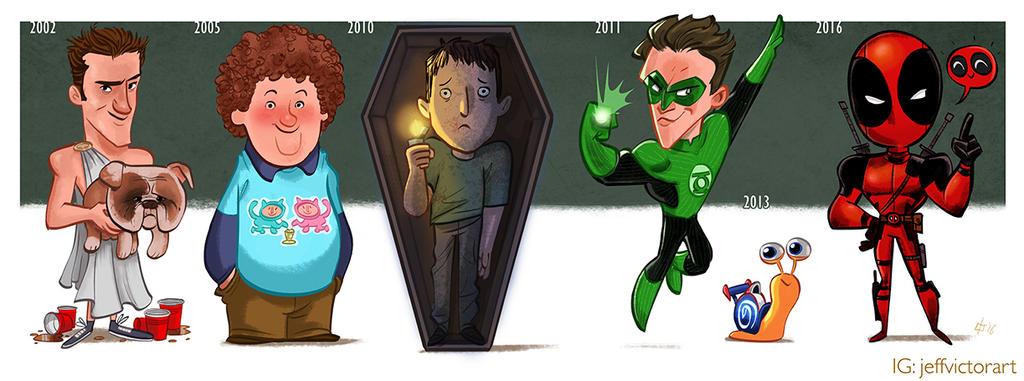 The Evolution of Ryan Reynolds by JeffVictor