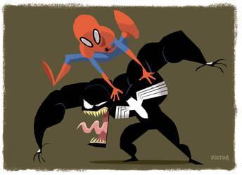 Spidey Vs. Venom by JeffVictor