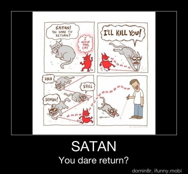 Kitty Vs Satan by AskHelenaWayne