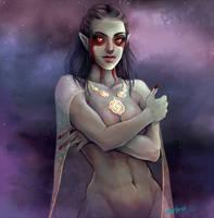 Skyrim dark elf by myks0