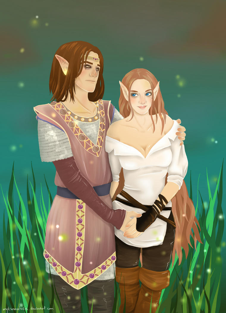 AT: Glorfindiela and Xan by myks0