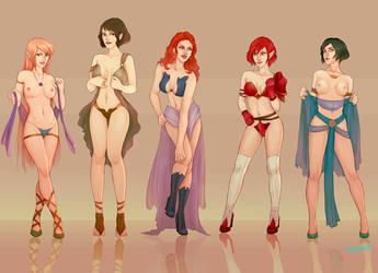 girls girls girls by myks0