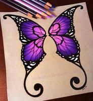 Purple Butterfly Wings - Commission by dannii-jo