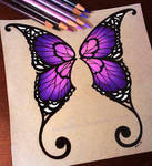 Purple Butterfly Wings - Commission