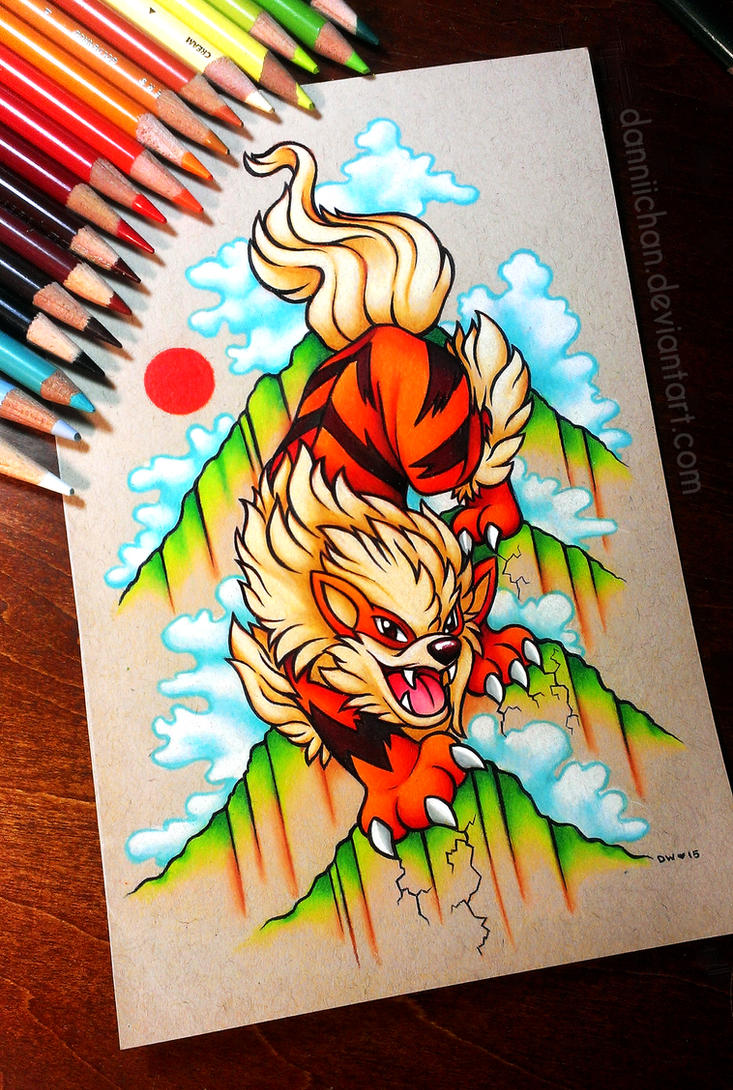Arcanine - Commission by danniichan