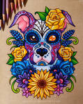 Sugar Skull Puppy - Commission