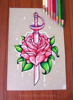 Rose Quartz Sword by dannii-jo