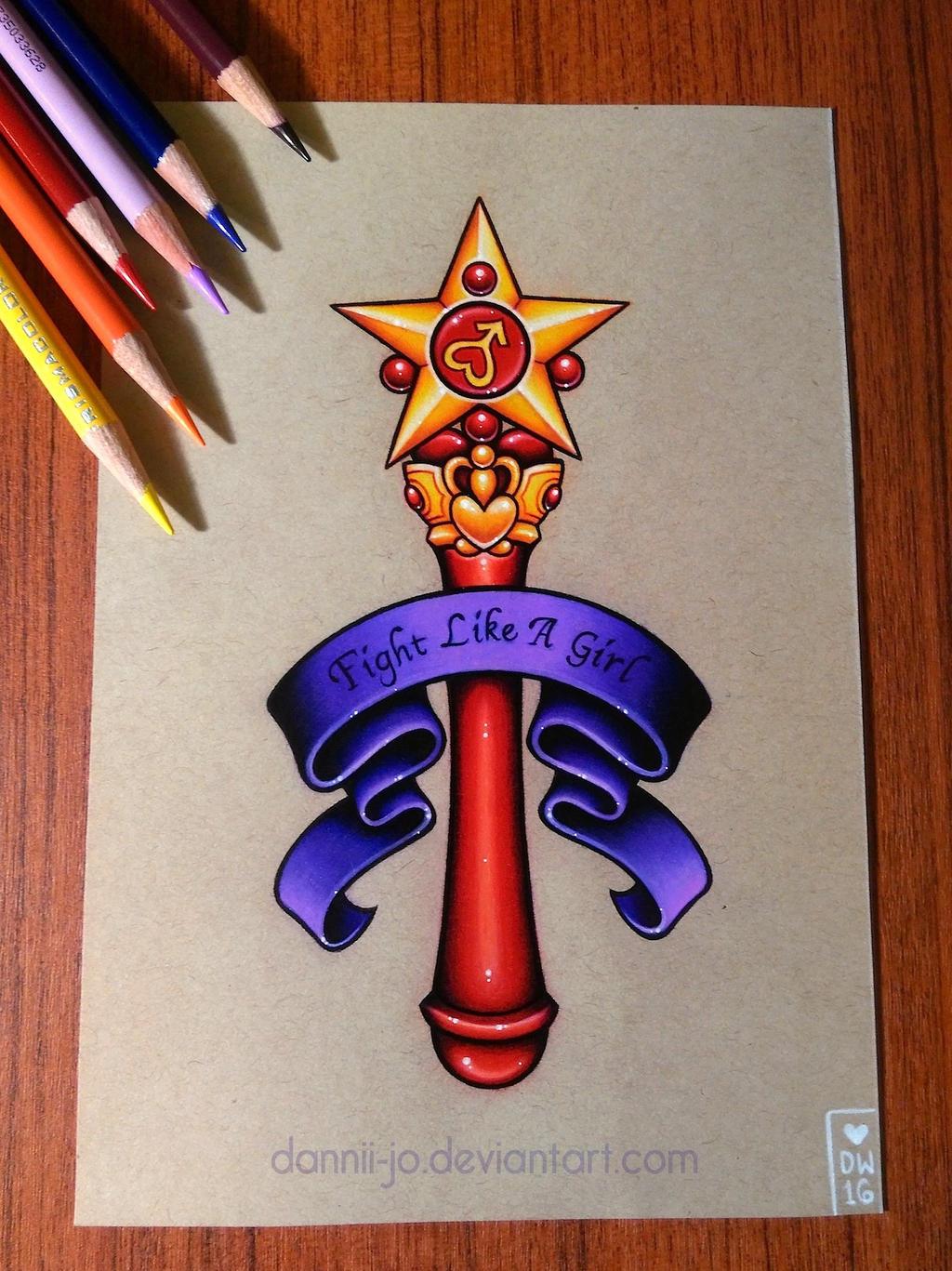 Sailor Mars Star Wand - Commission