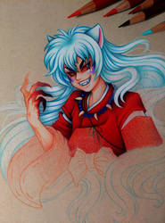 Demon InuYasha - WIP 2 by dannii-jo