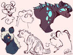 Hyena sketches