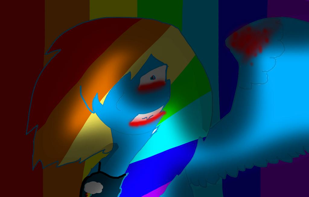 Rainbow Dash Evil human form by FeralHeartBlueIsBack on DeviantArt