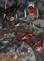 Akuma vs. Dark Stalker S.E. by Aurongard