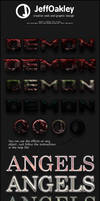Angels and Demons Styles by sirjeffoakley