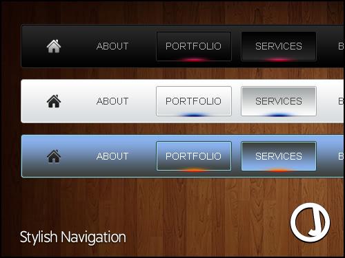 Stylish Navigation by sirjeffoakley