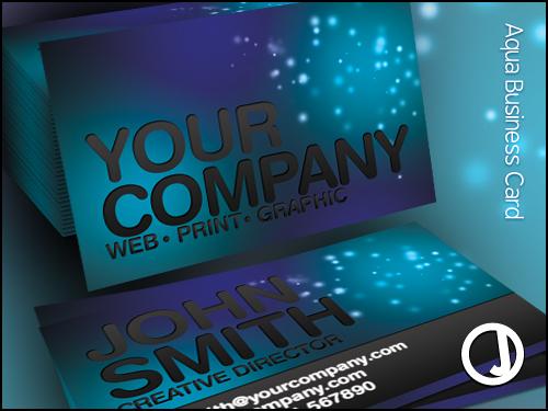 Aqua Creative Business Card by sirjeffoakley