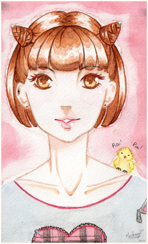 .: Aquarelle Portrait Rina-chan :. by michiyoetandrea