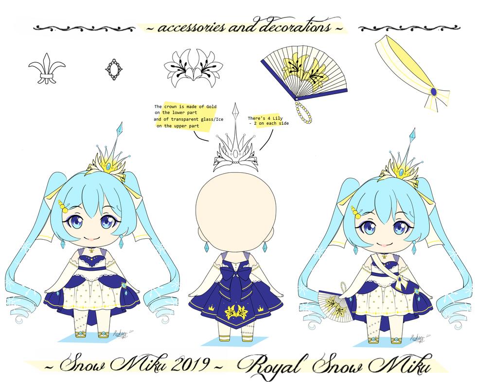 .: Snow miku 2019 - Royal Snow Miku :. by michiyoetandrea