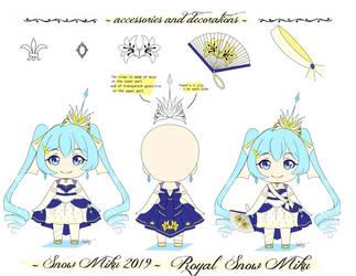 .: Snow miku 2019 - Royal Snow Miku :.