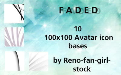 Faded 10 icon set