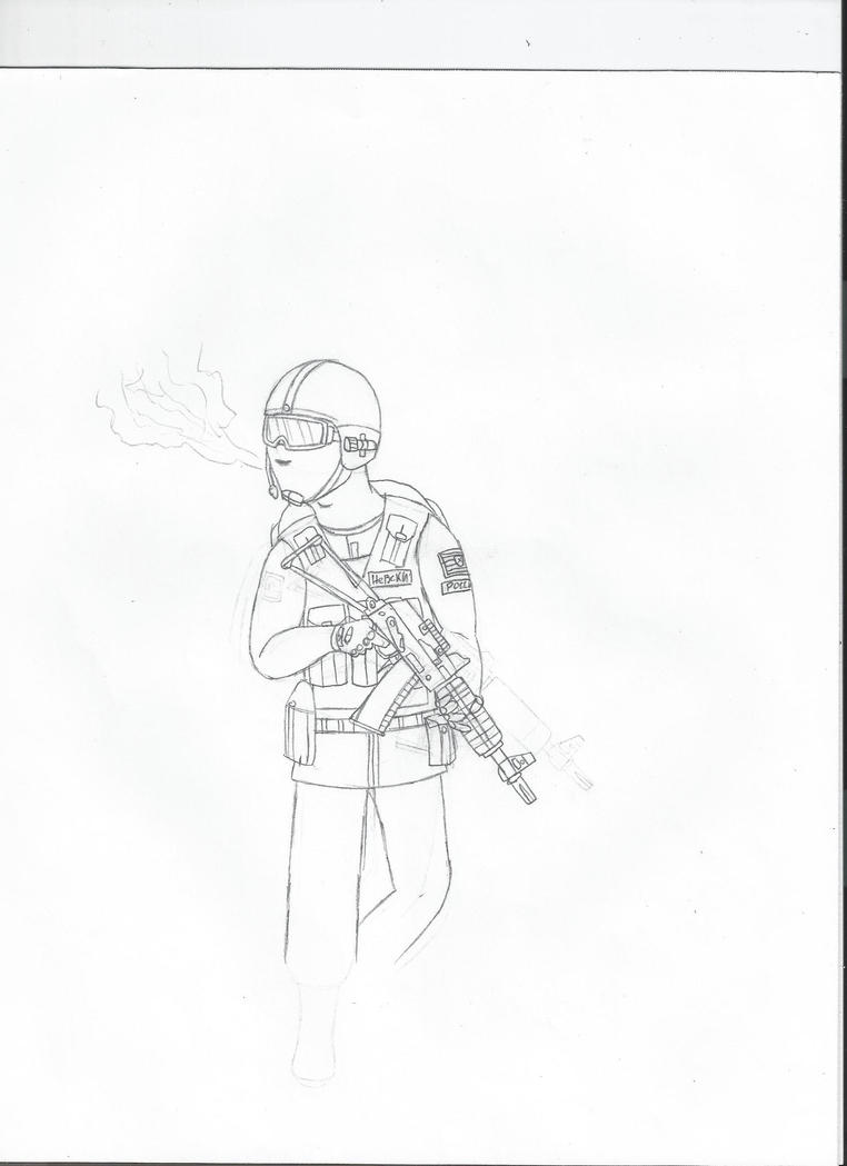 Russian Soldier WIP by LBFable