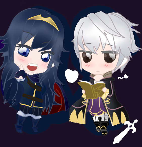 FEA: Lucina and Robin by Amanecer-Dawn