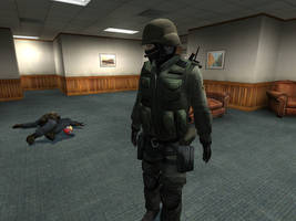 seeing if the swat is ok. by SkullsKnight