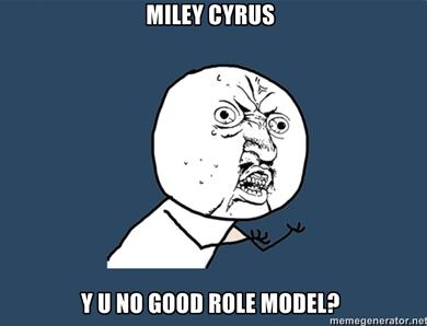Miley Cyrus Y U NO by WiiMiiYay