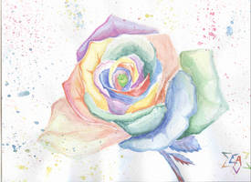 Colored ROSE by ArlanEAkyl