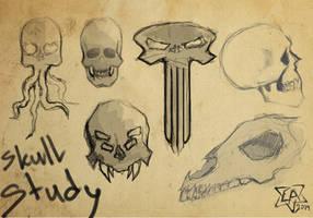 Skull Study by ArlanEAkyl