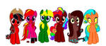 My Mane Six Recolors by JeannieHobbes
