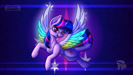 Twilight Rainbow Wings by Calenita