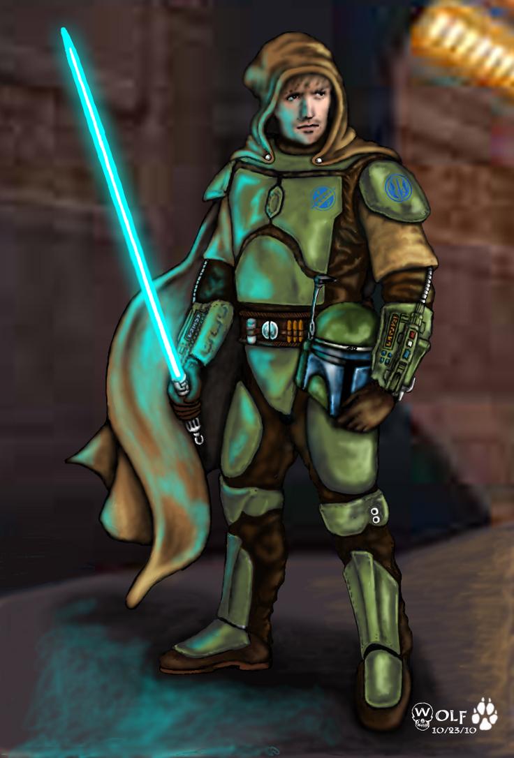 Mandalorian Jedi Guardian by JohnGWolf on DeviantArt