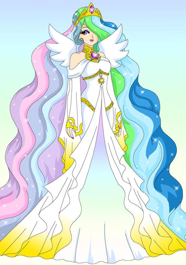 MLP - Human Celestia by Sailor-Serenity on DeviantArt Celestia Mlp Human
