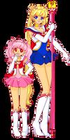 Sailor Moon and ChibiMoon