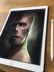 iPad zombie drawing.