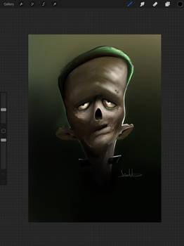 Frankenstein iPad drawing.