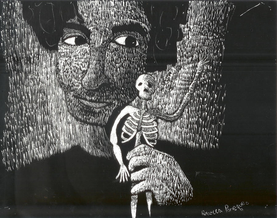 Tim Burton Scratch-Art by RPbogal