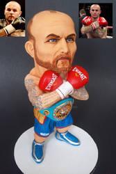 Lightweight British boxer Kevin Mitchell sculpt by mizog